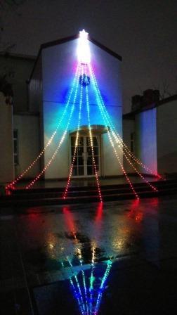 クリスマス飾り付け点灯